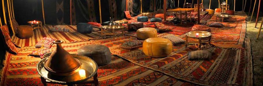 Décoration de tentes traditionnelles Marocaines