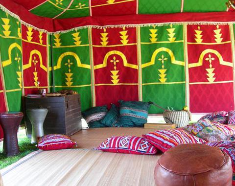 Location de tentes traditionnelles Marocaines Caïdales 1