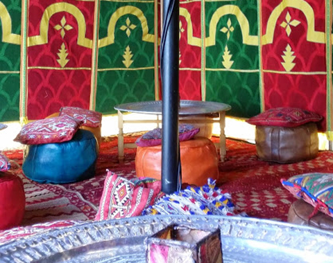 Location de tentes traditionnelles Marocaines Caïdales 2