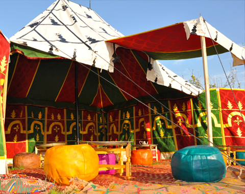 Location de tentes traditionnelles Marocaines Caïdales 3